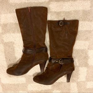 DSW Shoes - DSW Entice Faux Suede Calf Height Heeled Boots GUC
